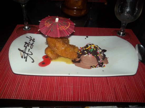 Grand Palladium Riviera Resort & Spa: Fried Ice Cream at Japenese