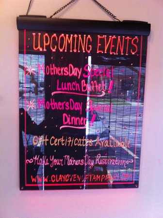 Pinellas Park, FL: Mothers day event board