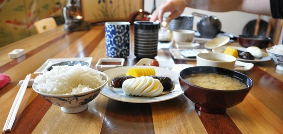 Berkshires Shirakaba Guest House : The Japanese breakfast - clearly I enjoyed - those mushrooms - sooo good