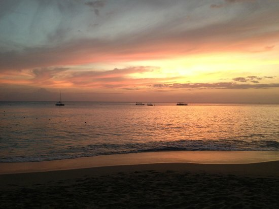 Colony Club: The beach is small but perfect, and quite private too - amazing sunsets here.