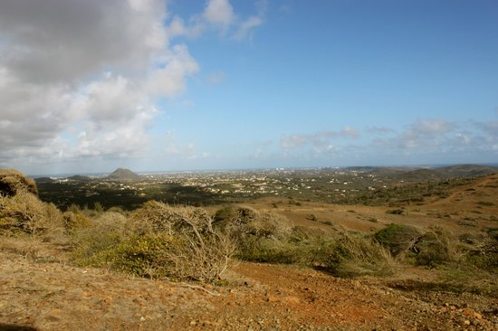 Savaneta, Aruba: Mt. Hooiberg in the distance