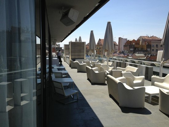 Condes de Barcelona: The rooftop restaurant