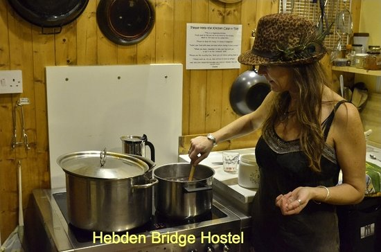 Hebden Bridge, UK: in the kitchen...