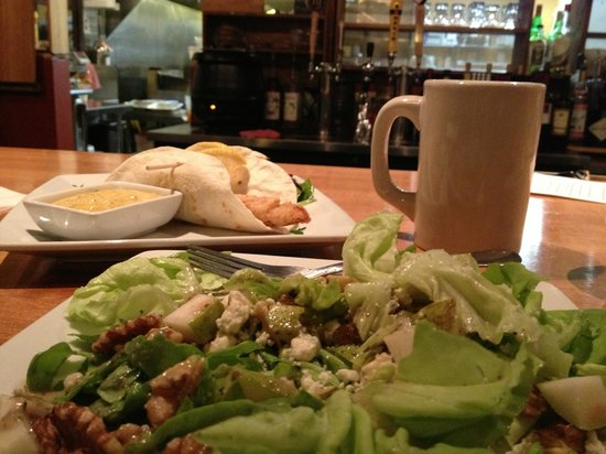 Brunswick, ME: Pic of my fave salad-Boston bib lettuce, blue cheese, pear, walnuts &amp; the best dressing ever!