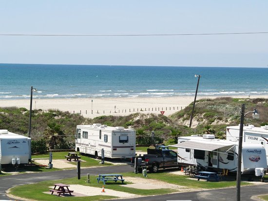 On The Beach Rv Park Port Aransas Texas Avis Camping