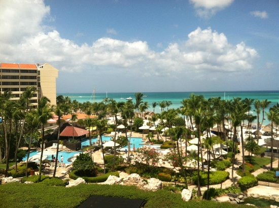 Hyatt Regency Aruba Resort and Casino: View from 5th floor pool/ocean view room