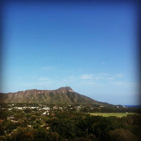 Park Shore Waikiki: View of Diamond Head from a public balcony