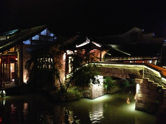 Tongxiang, Cina: Wuzhen at night