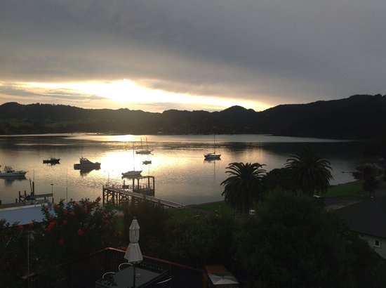 Late afternoon view from Whangaroa Motel