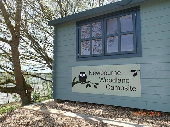 Woodbridge, UK : Campsite Information point