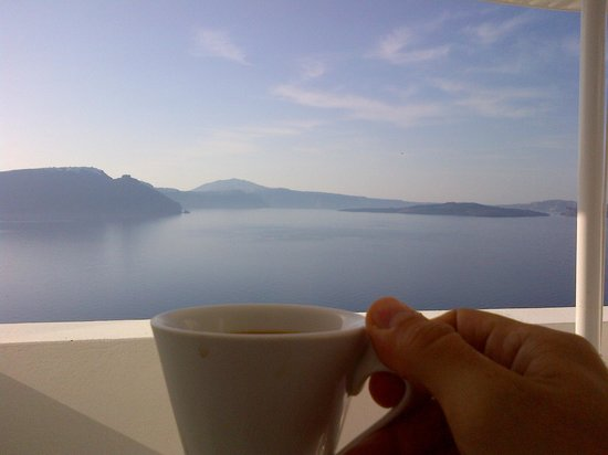 Andronis Luxury Suites: Morning coffee delivered to room...perfect!