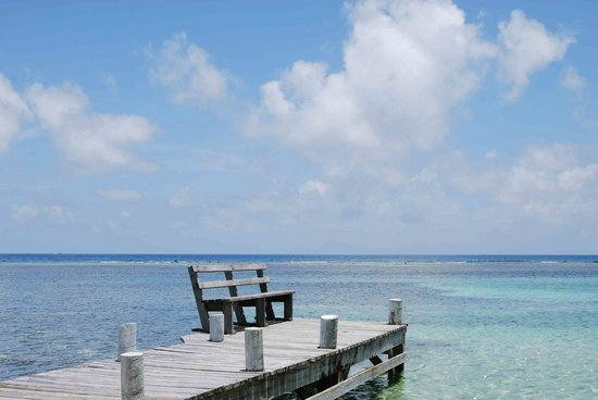 South Water Caye, Belize: view to the reef