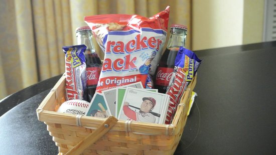 Hotel Commonwealth: The basket the staff sent for his birthday!