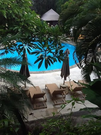 Ramayana Resort &amp; Spa: View from our poolside room balcony