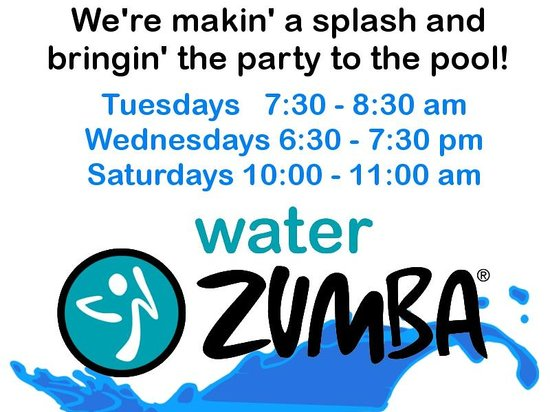Brook Pointe Inn: Water Zumba Class free to guests