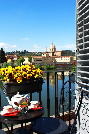 Residenza Vespucci B&B Florence Italy  river view from balcony