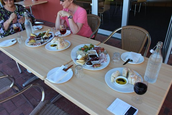 McLaren Vale, Australia: Our lunch platters. I had to sneak a pic of our food platters before we dove into them.
