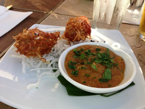 Wailea Beach Marriott Resort & Spa: coconut shrimp appetizer at Mala