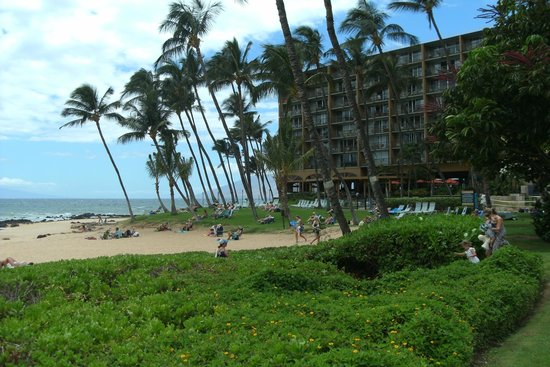 Days Inn Maui Oceanfront : Another view of the beach with the resort next door