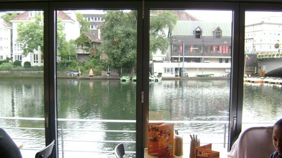 Tybinga, Niemcy: thew view from the Neckar Mueller restaurant