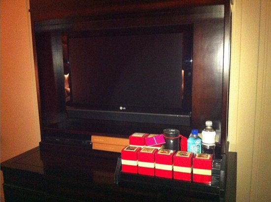 The Palazzo Resort Hotel Casino : TV in living area 