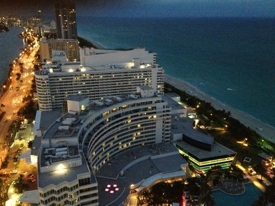 Fontainebleau Miami Beach: View from our balcony