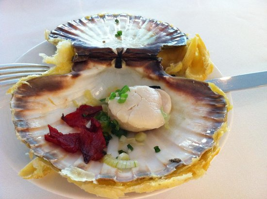L&#39;Agapa Hotel SPA Nuxe: Menu &quot;Saison&quot; - Fabulous Scallop with its shell