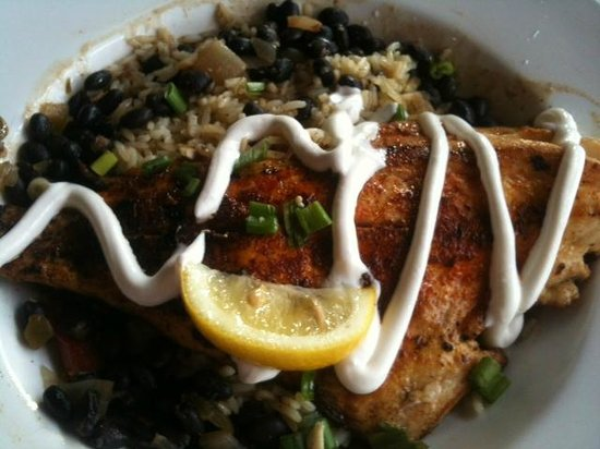Blackend redfish black beans and rice picture of cedar for Cedar reef fish camp menu