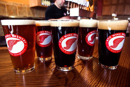 , : Hand-crafted beer at the Red Wing Brewery
