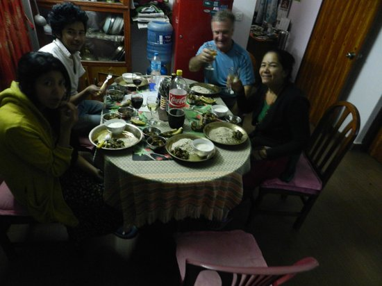 Le Rhododendron: dinner with family........