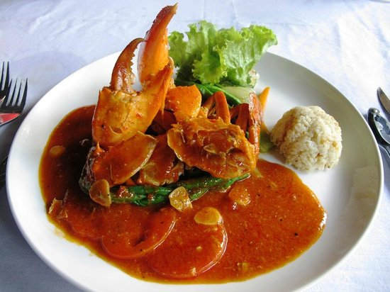 Kalibukbuk, Indonesien: the crab menu that i like