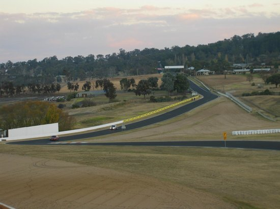 Bathurst, Australien: View of the track from my room