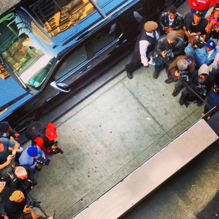 Gansevoort Park Avenue NYC: Celebrity spotting from our balcony - it turns out Rihanna was staying too!