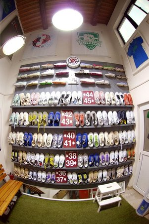 Chinese vintage sneakers shoe wall - Picture of NLGX Design Store