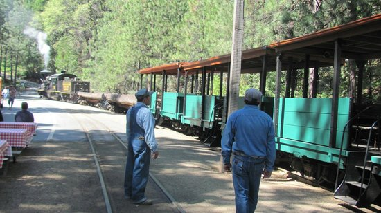 Fish Camp, CA: Train ready to leave the station