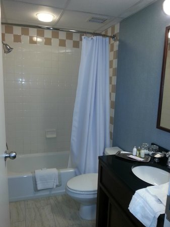 Gettysburg Hotel: Smaller bathroom than expected - but large living area