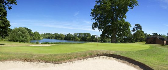 Patshull Park Hotel Golf & Country Club: 2nd green and Great Lake