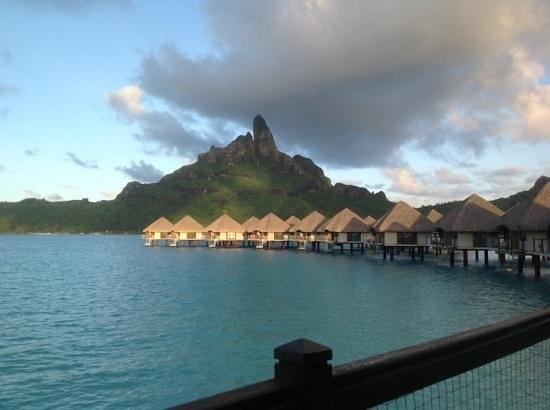 Le Meridien Bora Bora: view from balcony room 210