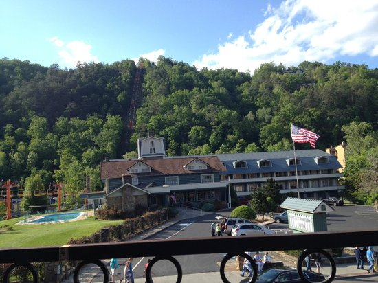 View of Gatlinburg Inn from where we had lunch at Crawdaddy's