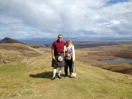 Dunfermline, UK: Dave Cameron and Una, Isle of Skye