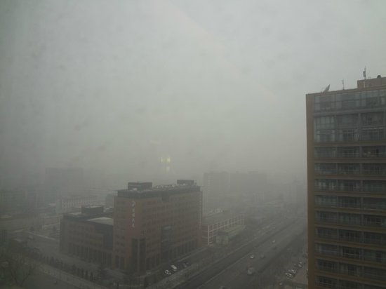 Wenjin Hotel: View from Wenjin in Jan 2013.  PM2.5 reading 950 micrograms per cubic meter