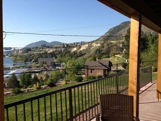 Summerland, Canada: view from the deck