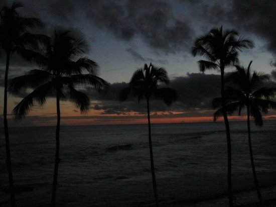 Sheraton Kauai Resort: View from room 1310 at sunset
