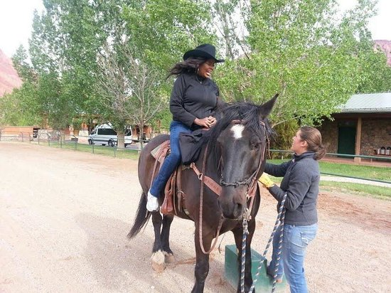 Sorrel River Ranch Resort: Me and Imp.  Dani is truly a horse whisperer!