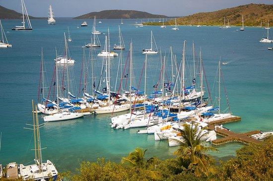 North Sound, Virgin Gorda: The Quarterdeck Marina & Waterfront