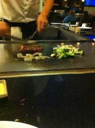Lancaster,  : steak and shrimp hibachi