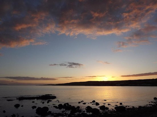Gairloch, UK: Sunset from the doorstep