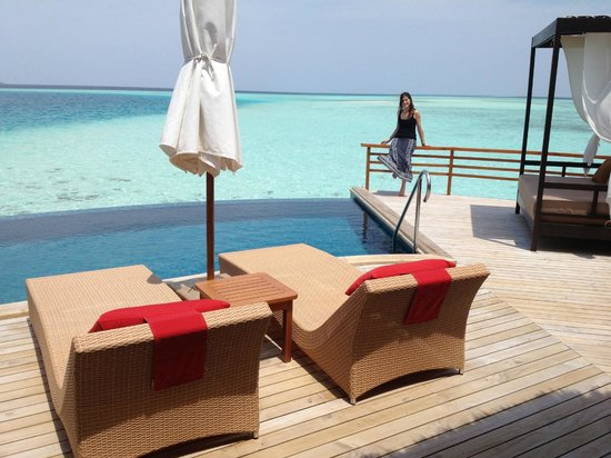 Baros Maldives: The amazing terrace of Pool Water Villa 311