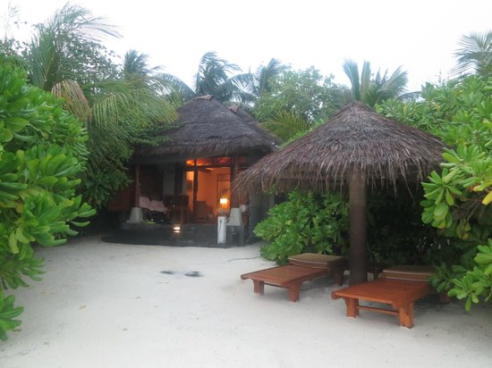 Baros Maldives: The private terrace area of Deluxe Villa 119