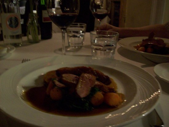 Bradford-on-Avon, UK: lovely duck dinner